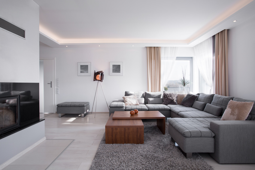 Modern light minimalistic interior in elegant style